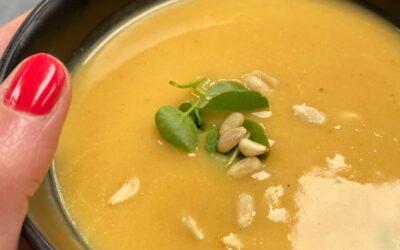 Romig soepje van wortel en pastinaak